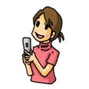 携帯をもった女性