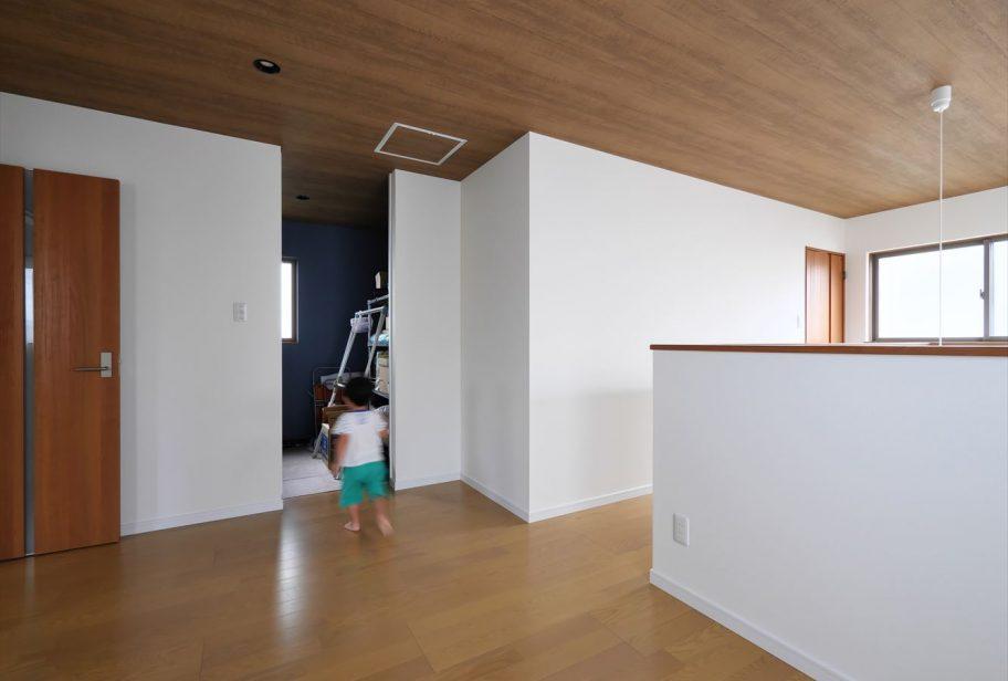 大きな共有スペースの2階ホール